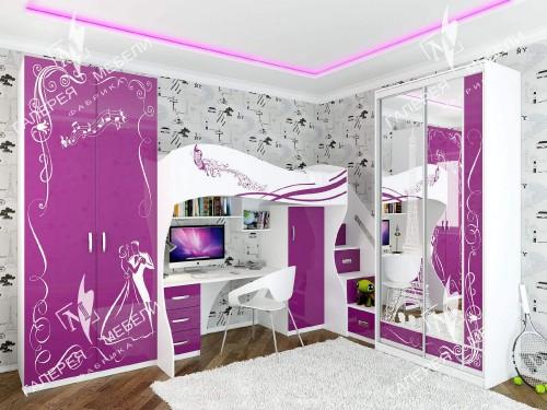 детская комната для девочки, мебель