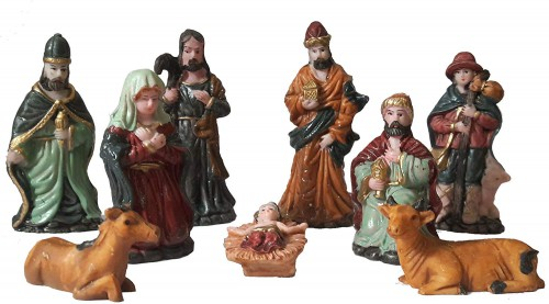 Nativity Figurine Set for Christmas Decoration https://www.amazon.in/Salvus-App-SOLUTIONS-Christmas-Decoration/dp/B077P73ZC9 Nativity sets are growing category for gift giving. They are all made of good quality resin and hands painted and capture the true meaning of Christmas for young and old. Christmas Crib Nativity Set , Christmas Decoration, Nativity Figurine Set